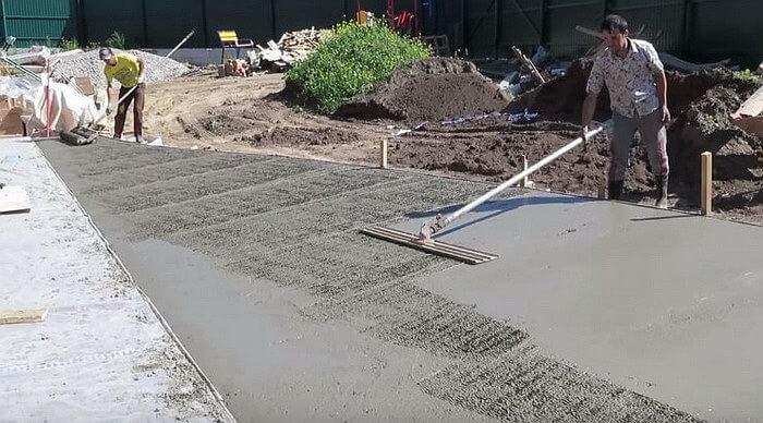 Производство декоративного печатного бетона