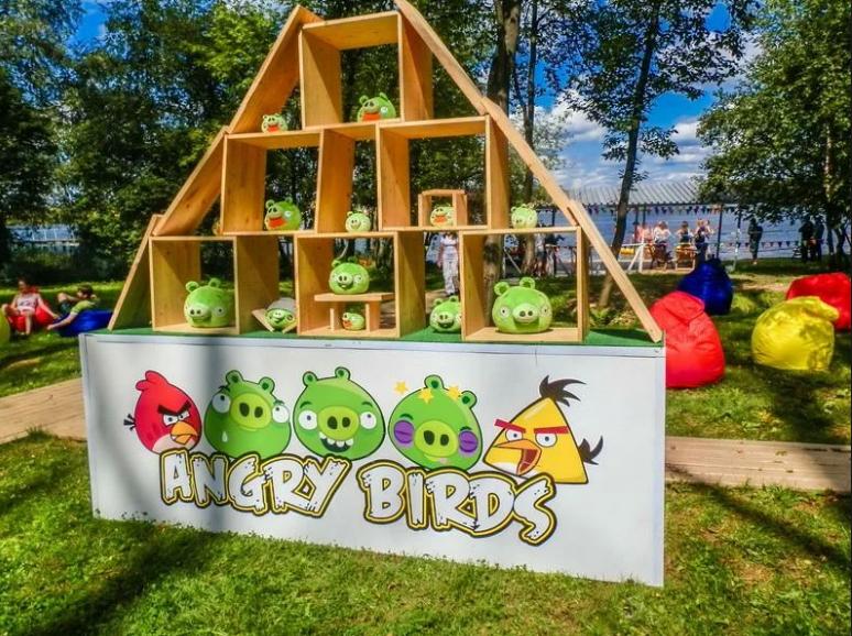 Аттракцион большая рогатка ANGRY BIRDS