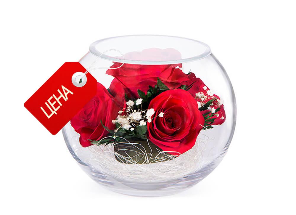 Цветы в глицерине:-цена