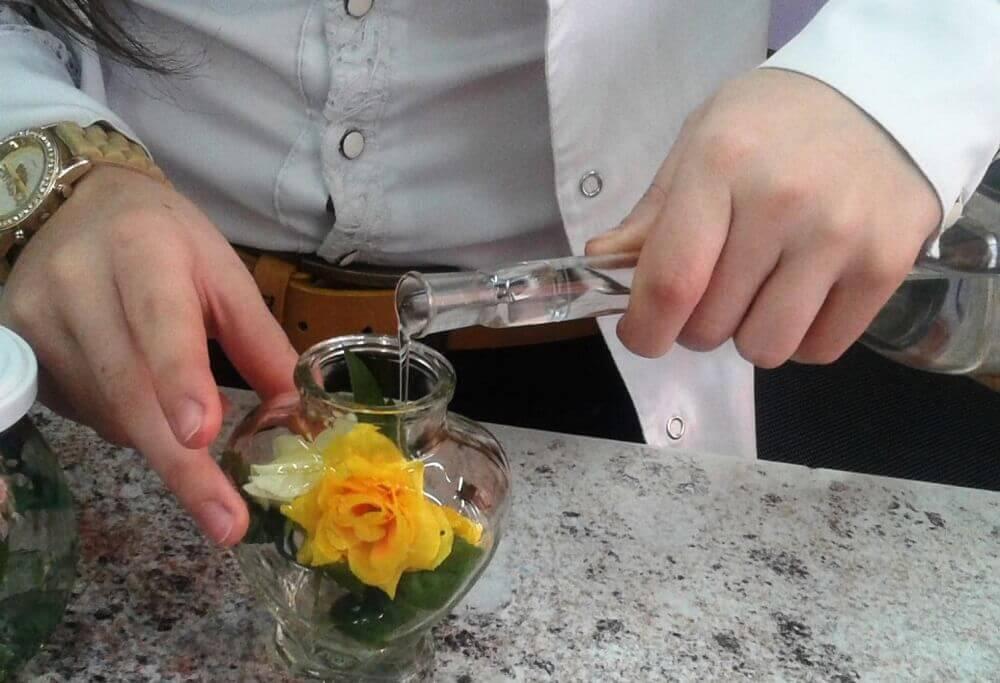 Живые цветы в глицерине