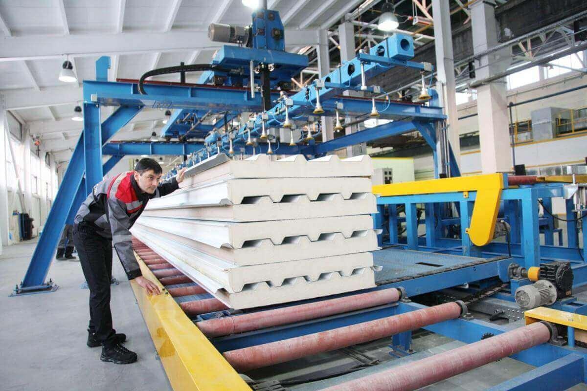 Производство сэндвич панелей - 7 этапов технологии и особенности бизнеса